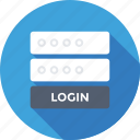account, credentials, login, security, sign in icon