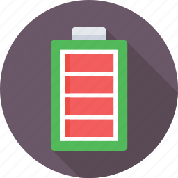 battery, electric, full, mobile battery, power icon