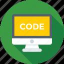 code, development, monitor, online, script
