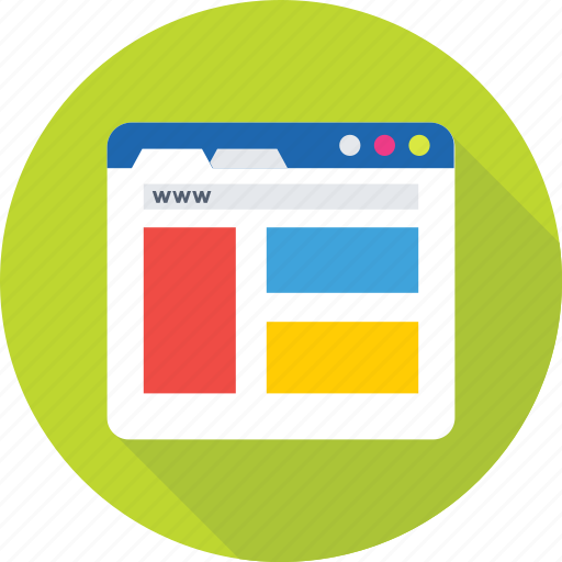 browser, layout, web, website, wireframe icon