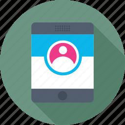 account, login, mobile, profile, user icon