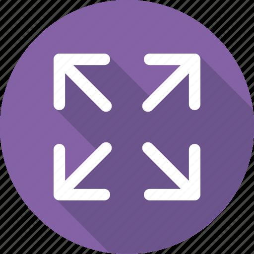 arrows, expand, fullscreen, maximize, screen size icon