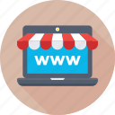 ecommerce, eshop, internet, online shopping, www icon
