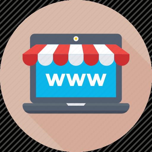 ecommerce, eshop, internet, online shopping, www icon