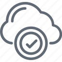 cloud acceptance, cloud checkmark, cloud computing, cloud network, wireless technology icon