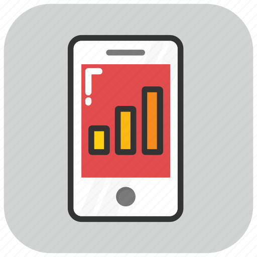 dashboard, data visualization, mobile app, mobile graph, mobile ui icon