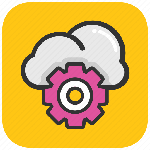 cloud computing, cloud maintenance, cloud service, cloud setting, cloud technology icon