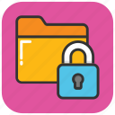 data protection, folder lock, folder protection, folder safety, folder security icon