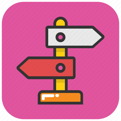 direction, direction post, finger post, guidepost, signpost icon