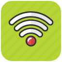 internet signals, wifi, wifi signals, wireless internet icon
