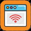 broadband technology, internet connectivity, internet coverage, internet service, network system icon