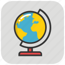 earth, globe, map, table globe, world map icon