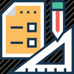 blueprint, design, geometry, plan, tools icon