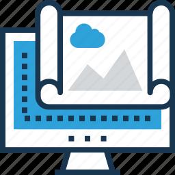 content, landscape, monitor, seo, web icon