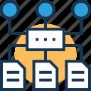 algorithm, architecture, data, data architecture, sitemap icon