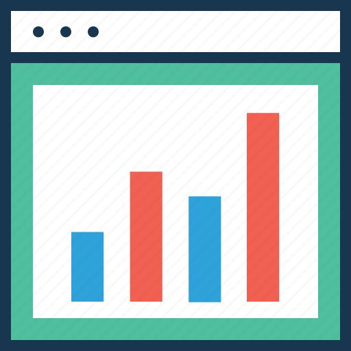 analytics, arrows, bar graph, seo, seo graph icon