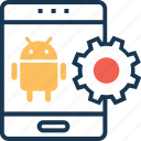 app development, application, cog, mobile development, preferences icon