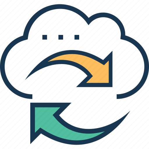 cloud, cloud sync, computing, processing, sync icon