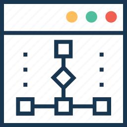 coding, development, programming, sitemap, web icon