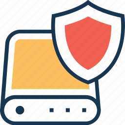 data, database, defence, protection, shield icon