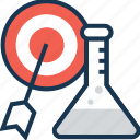 bullseye, hit, lab, research, target search icon