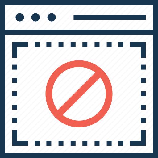 access, access denied, block, cancel, spam icon