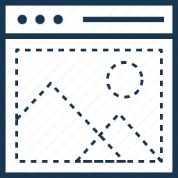 design, layout, template, web, wireframe icon