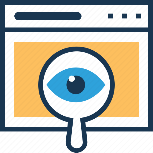 magnifier, monitoring, seo, visibility, webview icon