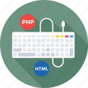 development, html, keyboard, php, programming icon
