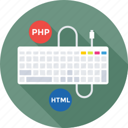 development, html, keyboard, php, programming icon