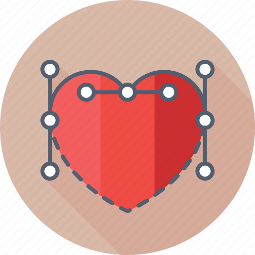 drawing, heart, love, photoshop, valentine icon