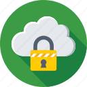 cloud, cloud computing, cloud security, lock, storage icon
