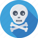 be aware, bones, danger, skull, toxic icon