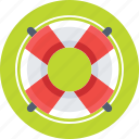 life belt, life buoy, life ring, safety, support icon