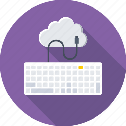 cloud, computing, hosting, internet, keyboard icon