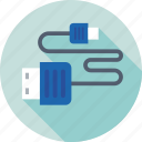 cord, data cable, usb cable, usb jack, usb plug icon