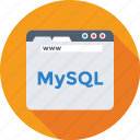 coding, database, development, mysql, web icon