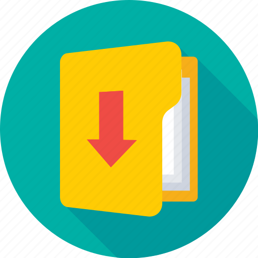 archives, download, files, folder, save folder icon