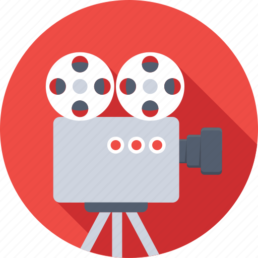 electronics, film, movie camera, recording, video camera icon