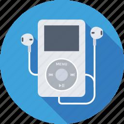 earphones, ipod, mp4, music player, walkman icon