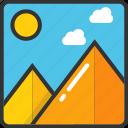 image, jpg, landscape, scenery, thumbnail icon