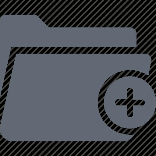 add to folder, data storage, file storage, folder, new folder icon