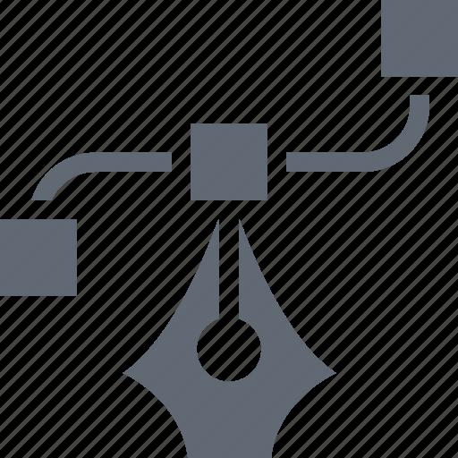 bezier, bezier tool, metrize, pen bezier, pen tool icon