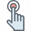 click, finger click, finger tap, finger touch, hand gesture icon
