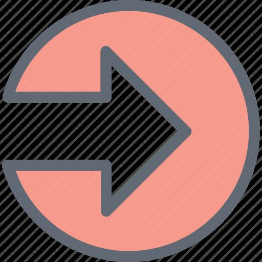 arrow, directional arrow, navigational arrow, right arrow, right direction icon