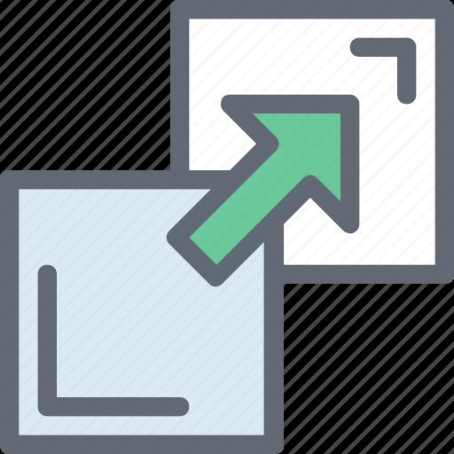 arrow, expand screen, fullscreen, maximize, resize screen icon
