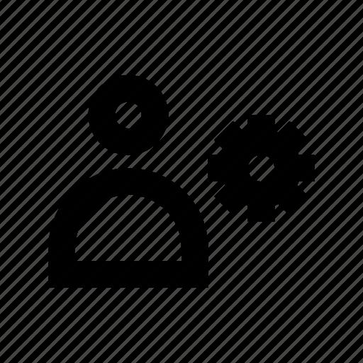 account setting, avatar, cog, gear, user setting icon