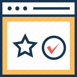 page quality, quality, rating, star, web ranking icon