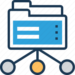 client server, data, data share, folder, share icon