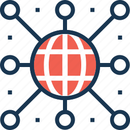 connection, global network, internet, network, social icon